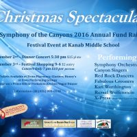 Christmas Spectacular Festival Symphony of the Canyons Fund Raiser