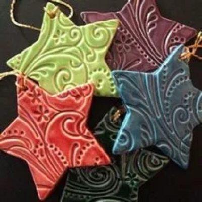 Handmade Clay Tree Ornaments