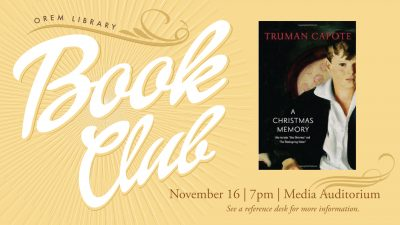Orem Library Book Club: A Christmas Memory