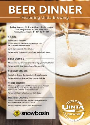 Uinta Beer Dinner