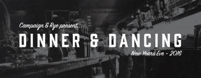 Dinner and Dancing - NYE 2016