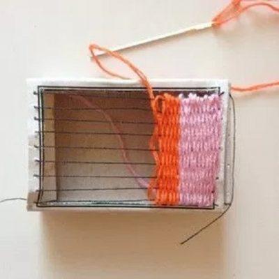 Matchbox Weaving For Kids