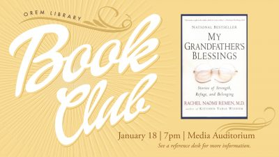Orem Library Book Club: My Grandfather's Blessings