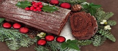 Yule Log and Jelly Roll Cakes