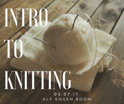 Intro To Knitting