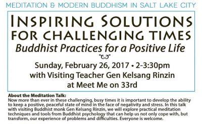 "Public Meditation Talk ""Inspiring Solutions in Challenging Times"" with Gen Kelsang Rinzin"