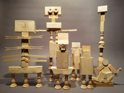 Interactive Mixed Media Sculpture for Kids