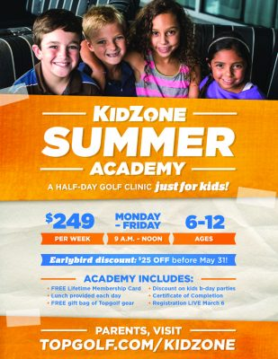Topgolf Summer Academy's