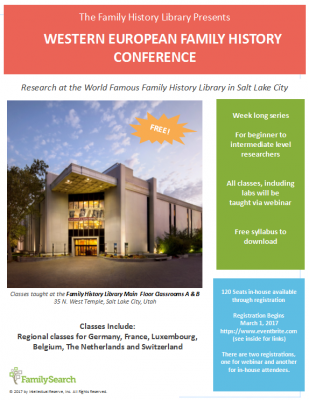 Western European Family History Conference