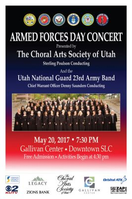 Armed Forces Day Concert with the Choral Arts Society of Utah