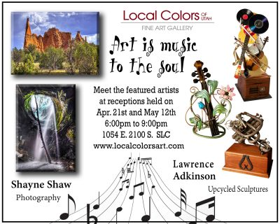 Local Colors of Utah Gallery Launches a New Artist Show for April and May