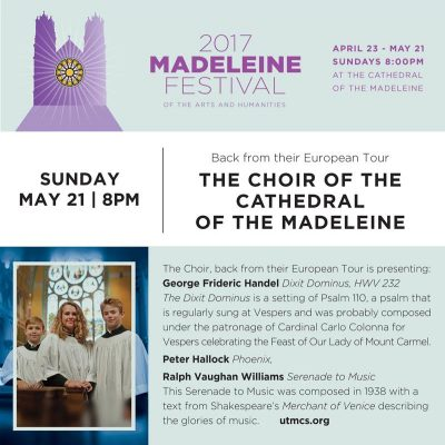 2017 Madeleine Festival of the Arts and Humanities