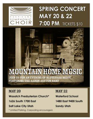 The Salt Lake Symphonic Choir Presents Mountain Home Music