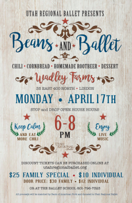 Utah Regional Ballet - Beans and Ballet - Entertai...