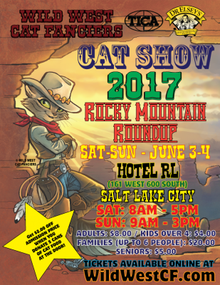 2017 Rocky Mountain Roundup TICA Cat Show