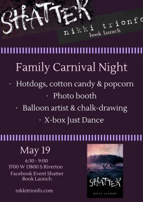 Carnival-Styled Book Launch for SHATTER by Nikki Trionfo