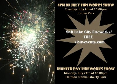 SLC Events Pioneer Day Fireworks Show
