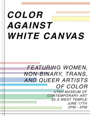 Color Against White Canvas