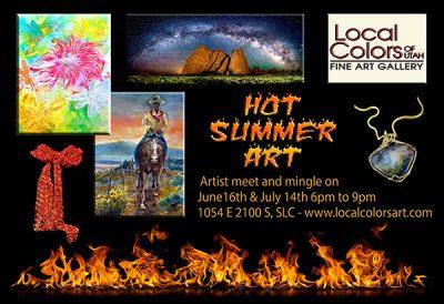 Hot Summer Art at Local Colors of Utah Gallery