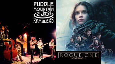 Music and Movie in the Park (Magna) Rogue One and the Puddle Mountain Ramblers (Bluegrass)