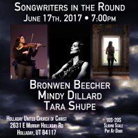 Songwriters in the Round: Bronwen Beecher, Mindy Dillard and Tara Shupe