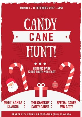 Draper Candy Cane Hunt 2017