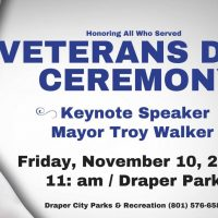 Draper Veterans Day Ceremony 2017