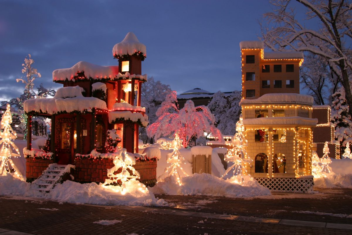 how to fix lights in christmas village