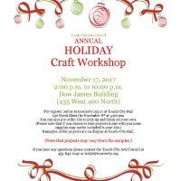 Holiday Craft Workshop 2017
