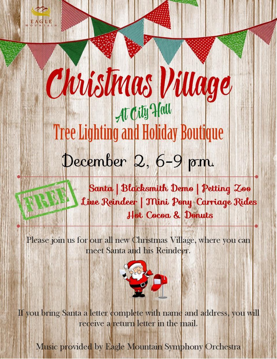 Eagle Mountain Christmas Village presented by Eagle Mountain City ...