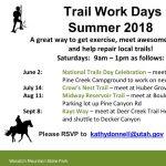 Trail Work Days 2018 - Kays Way