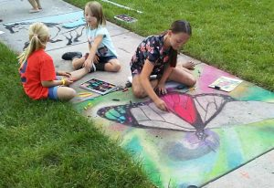 Street Painting for Cache Valley Veterans