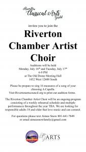Riverton Chamber Artist Choir Auditions