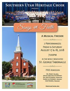 Songs of Faith: A Musical Fireside presented by Southern Utah
