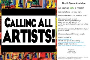Calling All Artist and Craftperson
