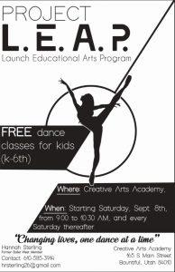 Project L.E.A.P. Free Dance Classes