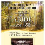 """Southern Utah Heritage Choir Tabernacle Fireside: """"Abide with Me"""""""