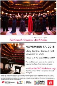 Utah District Metropolitan Opera Open Auditions