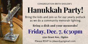 Brith Sholem's Hanukkah Party