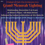 Grand Menorah Lighting on Main Street