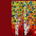 Colorful Aspens - Paint & Sip Night