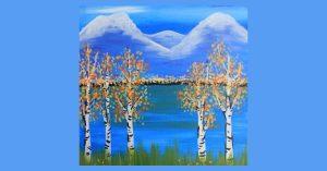 Mountain Lake - 21+ SLC Paint & Sip Night