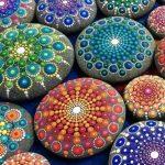 Mandalas at the Market - Rock Painting