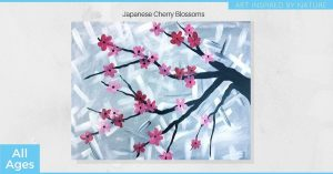 Japanese Cherry Blossoms - All Ages Paint Night