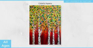Colorful Aspens - All Ages Painting