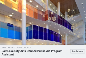 Salt Lake City Arts Council Public Art Program Assistant