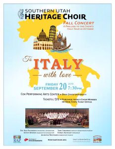 Fall Concert: To Italy With Love