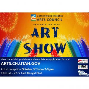 The Cottonwood Heights Arts Council Community Art Show 2019