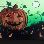 """Easely Art Studio Halloween Painting Party: """"Pumpkin and Treats"""""""