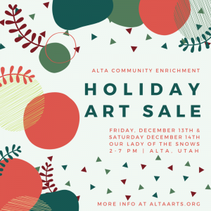 Alta Holiday Art Sale 2019